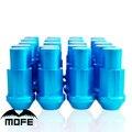 Mofe 20pcs/set 50mm Rays Wheel Lug Nuts Universal Aluminum Alloy Wheel Racing Lug Nuts M12*1.5 (P:1.5 L:50MM) Blue
