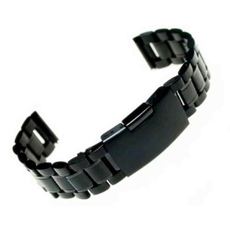 2020 Panas Dijual 18 Mm/20 Mm/22 Mm Stainless Steel Watch Band Tali Hitam Fashion Logam gelang Gelang Jam Jan02
