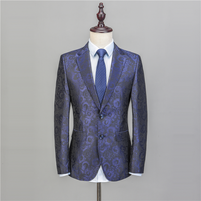 NA48 Floral Suit Men 2018 Flower Pattern Wedding Suits For Men 4XL 5XL Plus Size Slim Fit Mens Party Prom Suits Homecoming Suit