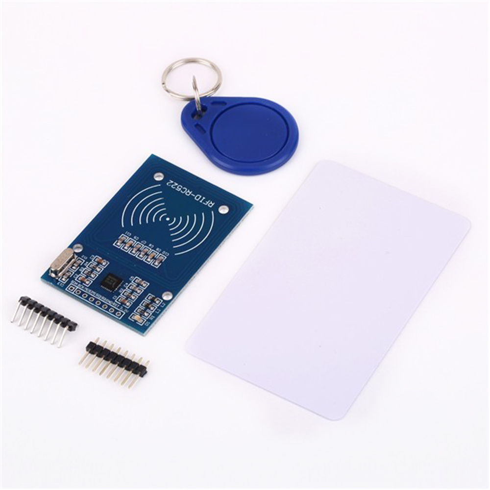 10pcs/lot RC522 RFID NFC Reader RF IC Card Inductive Sensor Module For Arduino Module + S50  Card + Keyfobs