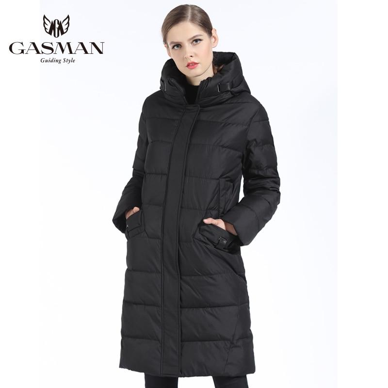 GASMAN 2018 Mode Femme Veste D'hiver Vers Le Bas Femelle À Capuchon Vers Le Bas Parka Longue Pour manteau femmes D'hiver Épaississement grande taille 5XL 6XL - 4