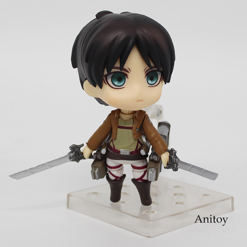 Anime Cute Attack on Titan Eren Jaeger Nendoroid 375 PVC Action Figure Collectible Model Toy Doll 10CM KT368 1