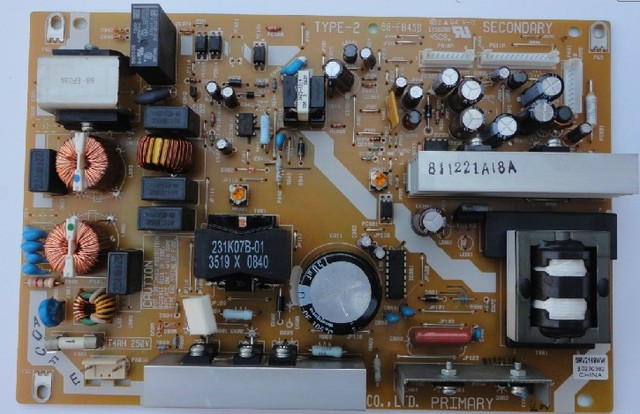 Power supply board type-2 68-fb43b srv2169ww-i