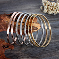 Holiday gift to women 7pcs/Set 3 Colour Cuff bangle stainless steel Women Fashion Bracelet 4* 68mm