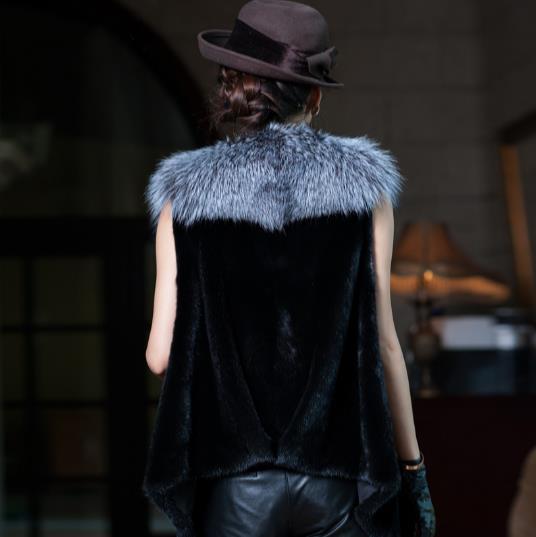 De Z361 Femme La Chaud Plus Fourrure Taille Artificielle Femmes En 2018 Gilets Gilet Manteau D'hiver Fausse Nouveau Vestes Faux SUqHEH
