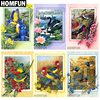 "HOMFUN Full Square/Round Drill 5D DIY Diamond Painting ""Flower & Bird & Swan"" 3D Embroidery Cross Stitch Mosaic Home Decor Gift"