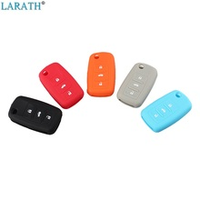 LARATH 3 Button Silicone Case For VW Wolfsburg T5 Skoda Seat Passat Remote car Key Fob Skin Cover