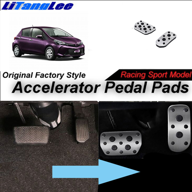 Litanglee Car Accelerator Pedal Pad Cover Foot Throttle Pedal Cover