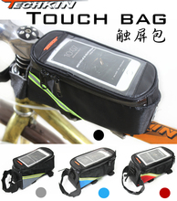 20317 TECHKIN touch screen mobile phone pack saddle bag on the front tube pack mountain bike ride