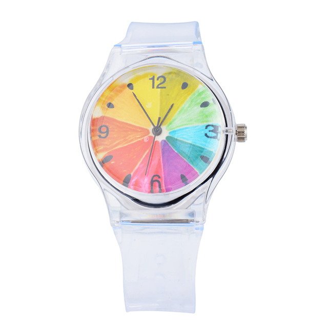 FUNIQUE 2018 Transparent Silicone Watches Women Sport Casual Crystal Quartz Wris