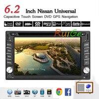 Новый 6.2 ''2 Дин dvd плеер Радио/BT/стерео/аудио gps навигация ПК автомобиля стерео ЖК Win 8 Бесплатная GPS антенна + карта + обзор камеры
