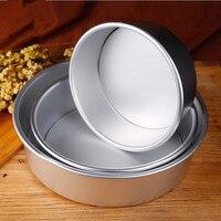 Алюминиевый Сплав Углеродистая Сталь съемная нижняя форма для торта круглый сердце квадратная форма для выпечки антипригарное противни дл...