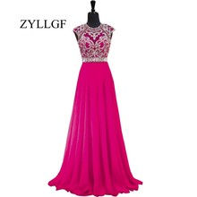 ZYLLGF Long Wedding Party Dresses 2018 A Line Chiffon