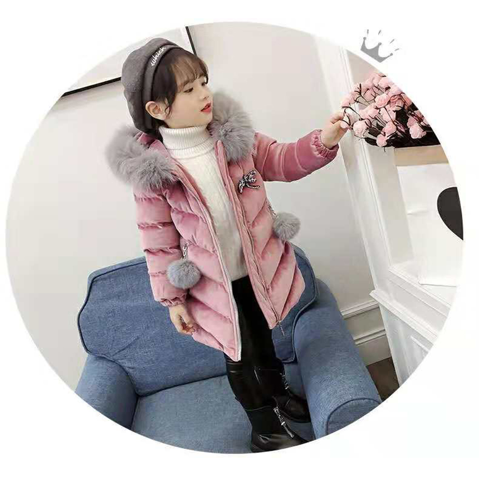 Kids Girls Thick Coat For Children Outerwear Clothing Casual Baby Girl Clothes Winter Windbreaker Outwear Cotton Coats Parkas