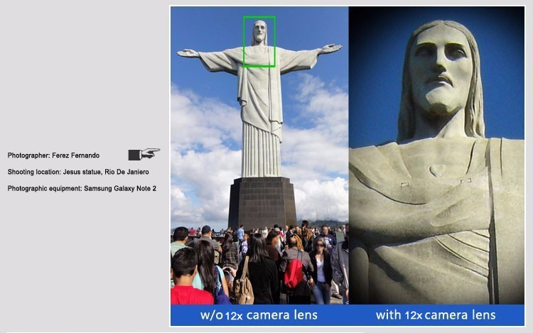 Newest Mobile Phone Camera Lens Kits Fisheye lense Wide Angle Macro Lens 12X Zoom Camera Telephoto Lens For iPhone Samsung LG 15