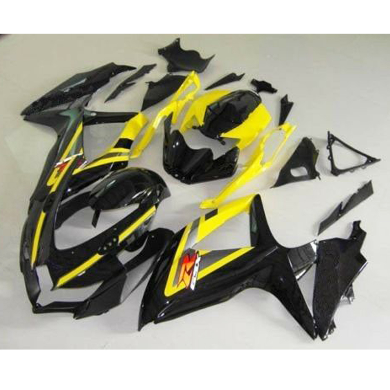 <font><b>GSXR</b></font> <font><b>600</b></font> <font><b>GSXR</b></font> 750 Yellow Black Complete Injection <font><b>Fairing</b></font> <font><b>Kit</b></font> for 2008-2010 <font><b>Suzuki</b></font> <font><b>GSXR</b></font> GSX-R G-SXR <font><b>600</b></font> 750 2009 image
