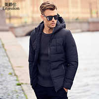 Enjeolon Brand Winter Hoodies Cotton Padded Jacket Men Windproof Parka Man Thick Quilted Puls Size 3XL Coat Men MF0008