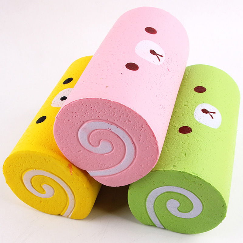 Squishy Swiss Roll Slow Rising Recovery Swiss Roll Funny Novelty Toys Gift For Kids Memory Foam Anti-stress Super Squishes Toy