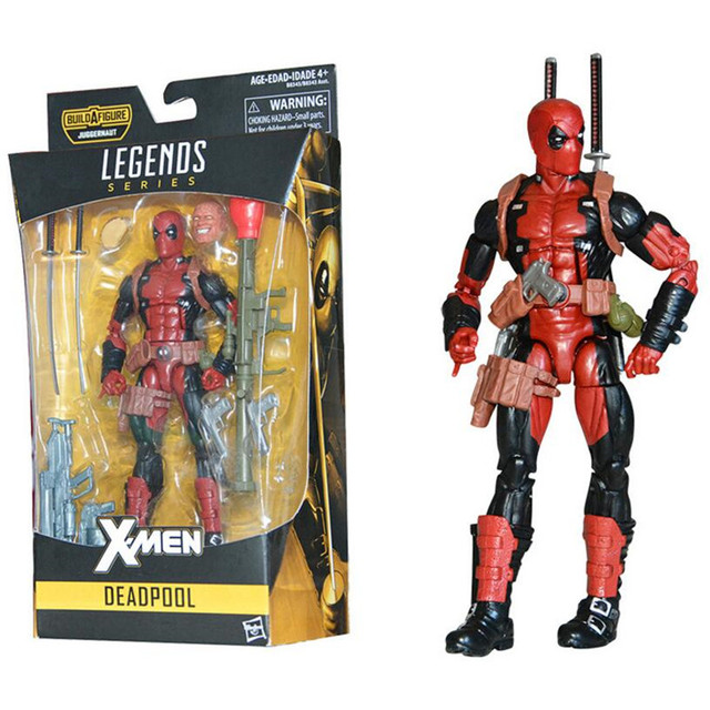 "Marvel X Pria Super Hero Deadpool 2 Spiderman Legenda Seri Action Figure dengan Ritel Kotak 6 ""15 Cm"