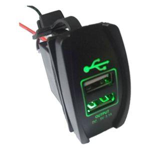 Image 5 - ملحقات قارب السيارة ، 12 فولت و 24 فولت ، منفذ USB مزدوج ، LED ، أخضر