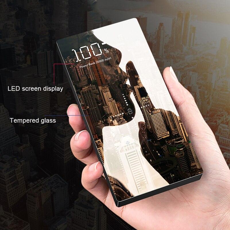 Qi Chargeur Sans Fil Power Bank 20000 mAh Portable Double USB Chargeur de Téléphone Batterie Externe pour Xiaomi iPhone Huawei Poverbank