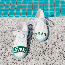 Белая мужская обувь; Новинка 2018 года; Корейская летняя повседневная