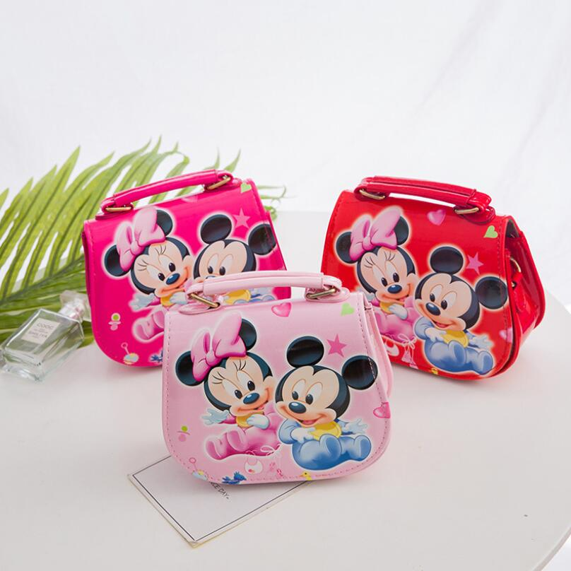 New Cute Mini Bag Children Minnie Handbag Cartoon PU Waterproof Should Bag Kids Girls Fashion Messenger Bags new children cartoon bags cute elephant mini handbag for girls boys pure cotton animals kids baby bags handmade a limited