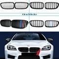 Углеродное волокно/черный Передний бампер гоночные грили почек решетки для BMW F10 F11 F18 5 серии 520i 523i 525i 530i 535i M производительность