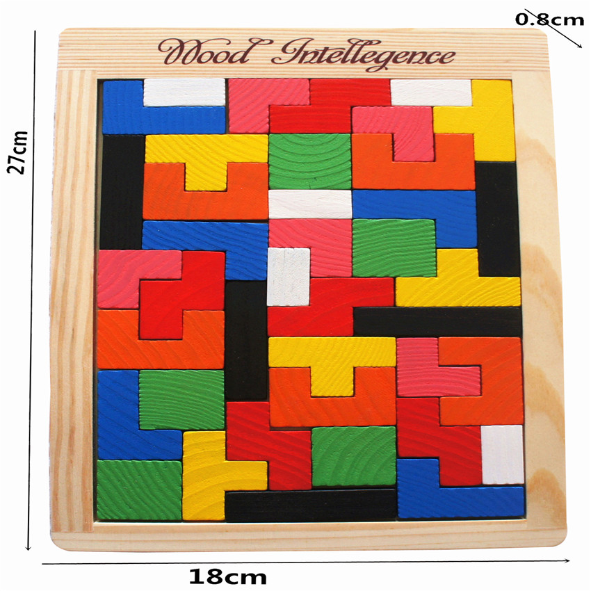 Puzzle Game for kid Educational Jigsaw Puzzle Wood for child Baby Educational Toy Colorful Wooden Tangram Brain Teaser Puzzle