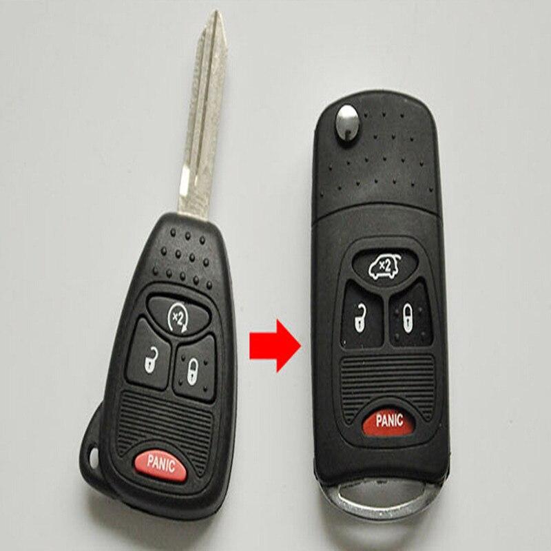 4 Buttons Remote Flip Folding Key Shell Case For Chrysler Sebring