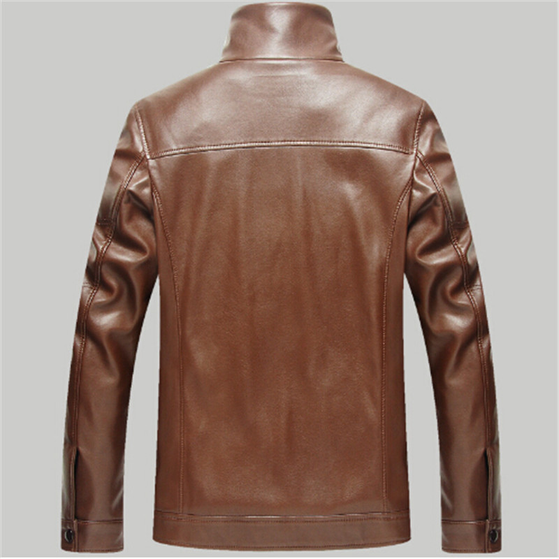 Russian Winter Thick Leather Garment Business Casual Leather Jacket Lapel Cashmere Lined High Quality Warm PU Coat Big