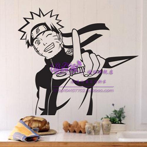 DCTAL Uzumaki Naruto Cartoon 벽 스티커 Decal 벽 종이 홈 - 가정 장식