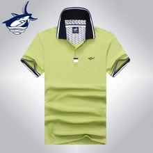 Fashion high quality men polo shirt brand Tace & Shark fashion business polo homme pure color European and Fasion style shark