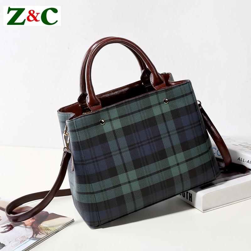 Luxury Brand Women Bags Classic Plaid Shoulder Bag Designer Famous Lady Stripe Handbag Big Lattice Handbag Casual Women Tote Bag aminou 2017 famous women tote bag lady casual 100