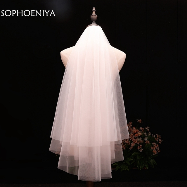 In stock voile Short Veil Cheap wedding accessories Welon veu de noiva Bridal Veil 2020 sluier bridal accessories brautschleier 3