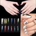 1g/Botella Nail Art Glitter Polvo del Polvo Holográfico Efecto de Sombra de Ojos Maquillaje Pigmento de Cromo 3D Espejo Mágico Glitters Herramientas de MAQUILLAJE #1-12