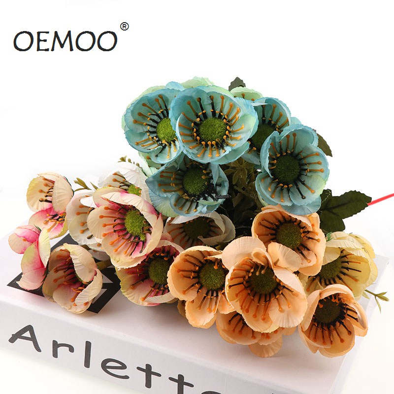 10 Heads Beautiful Flowers/Bouquet Artificial Hibiscus Flowers For ...