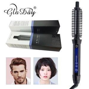 Image 5 - קרמיקה שיער מברשת Curler חשמלי שיער מברשת מסרק שיער מסתלסל רולר שיער קרלינג ברזל