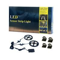 LED Strip Lights Warm White Waterproof Motion Activated Sensor Timer Bed Night Light For Kids Bedroom