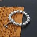 2016 Буддийский мантра четки браслет 100% Реального стерлингового серебра 925 браслет мужчины или женщины изысканные старинные ювелирные изделия GB27