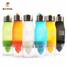 Creative Fruit Juice Infuser Water Bottle 650ml Plastic Portable Lemon for Sport Drinking DM108