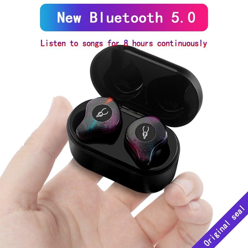Sabbat X12 Bluetooth 5.0 3D Suono Stereo Auricolare Bluetooth Invisibile Vero Impermeabile Senza Fili di Sport Auricolari con Accumulatori e caricabatterie di riserva