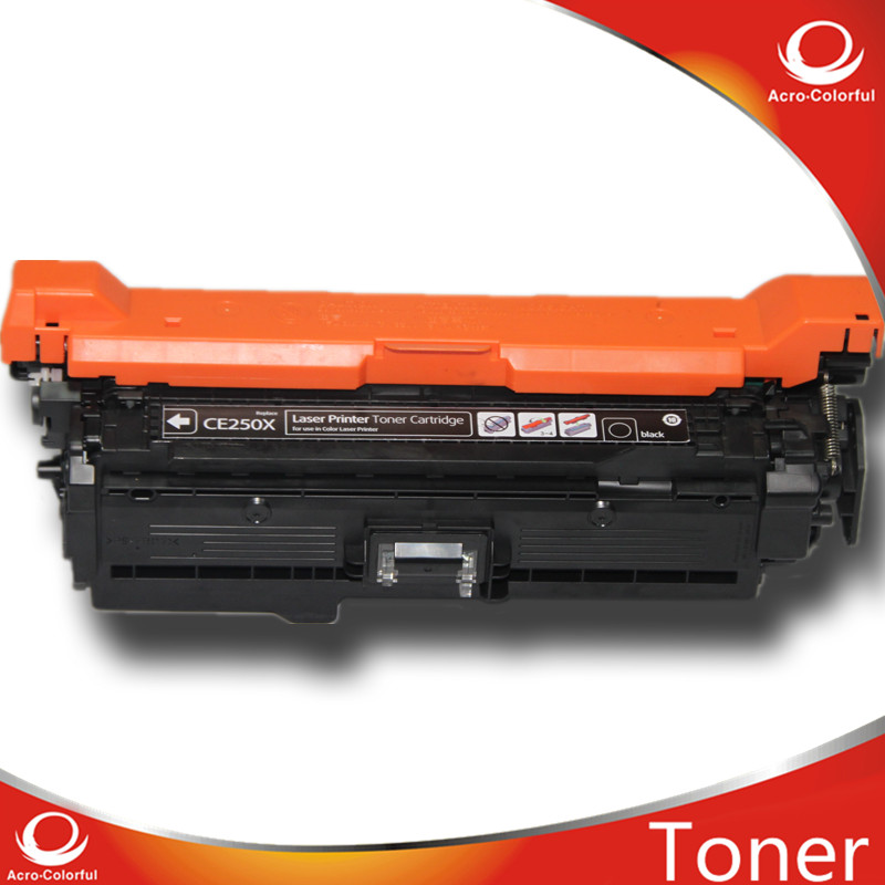 ФОТО New compatible full and original reset OEM color  toner cartridge for HP CE250X work for  printer CM3530/CP3525