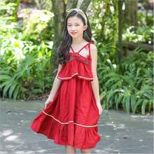 Высококачественное корейское кружевное платье принцессы на бретельках