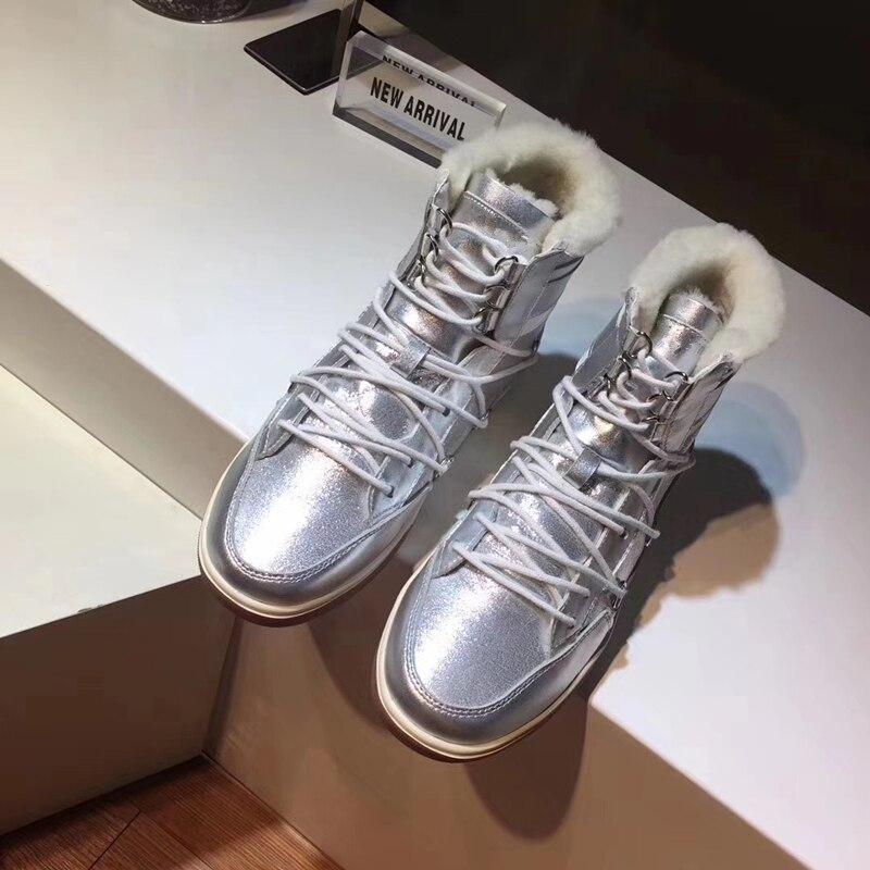 Marca Pisos Pic Diseño Pic Encaje Zapatos Plataforma Femenina Caliente Casual as Botas Las De Plata Mujeres Invierno Nieve Mujer Tobillo As xFW67g