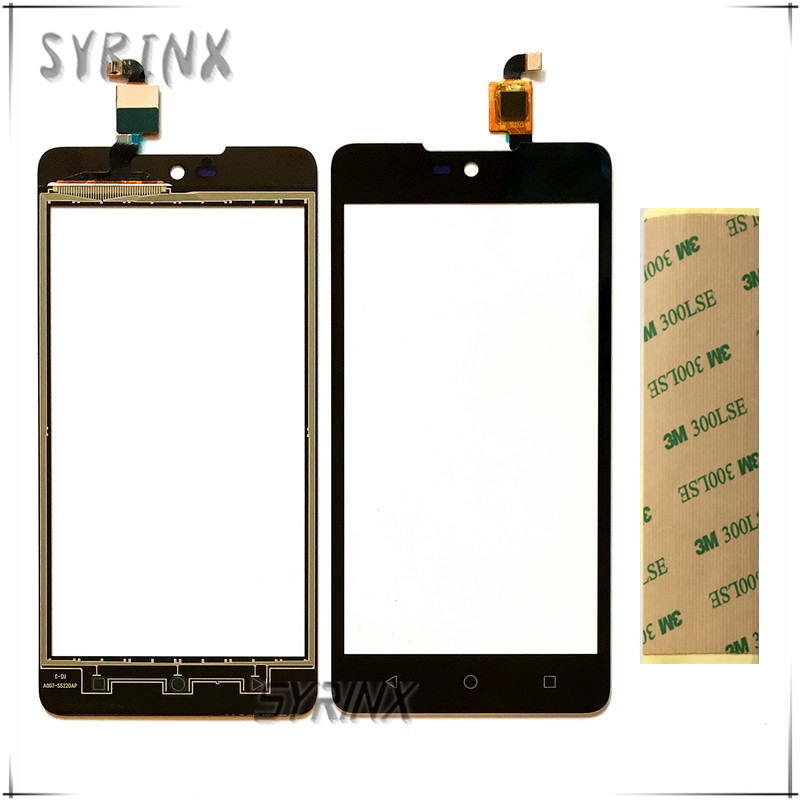 Syrinx With 3M Stickers 5.0 Touchscreen Sensor For Micromax Canvas Selfie 2 Q340 Touch Screen Digitizer Front Glass Lens Panel