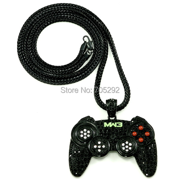 New arrival iced out new game controller pendants necklace with 36 new arrival iced out new game controller pendants necklace with 36 franco style chain necklace in pendant necklaces from jewelry accessories on aloadofball Choice Image