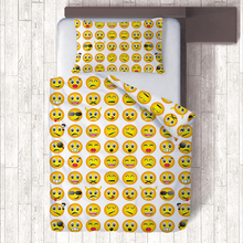 Funny Kiss/Watermelon/Strawberry/Crown Yellow Smiley Faces Smile Emoji Pillow Case Duvet Cover Single Bedding Sets HOT