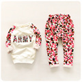 2016 spring toddler girl clothing set long sleeve kids letter tops + pants 2 pecs kids clothes girls sport suit tracksuit