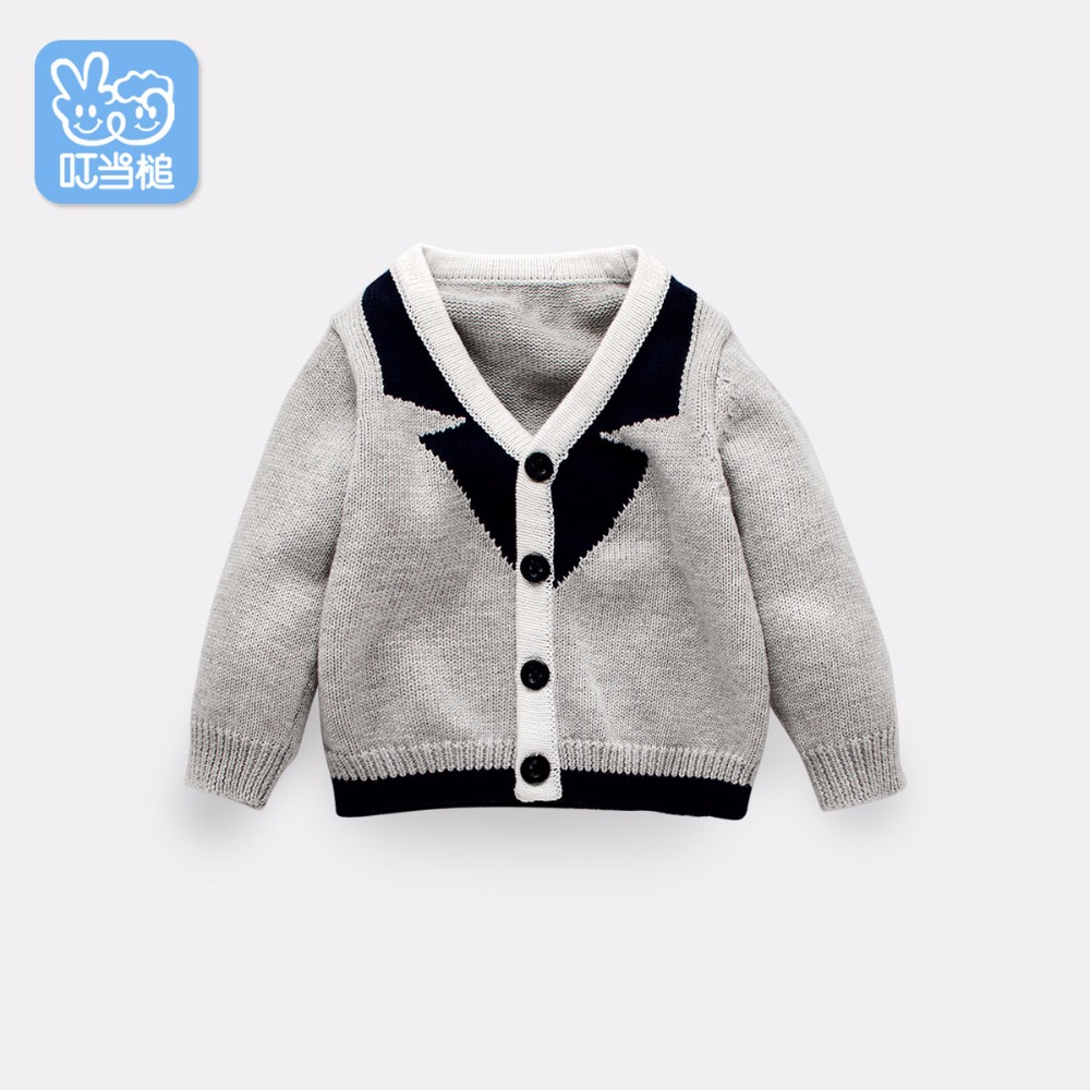 DINSTRY baby spring autumn children knitting cardigan Boys girls Knitted Sweater outerwear sirdar snuggly double knitting baby cardigan pattern